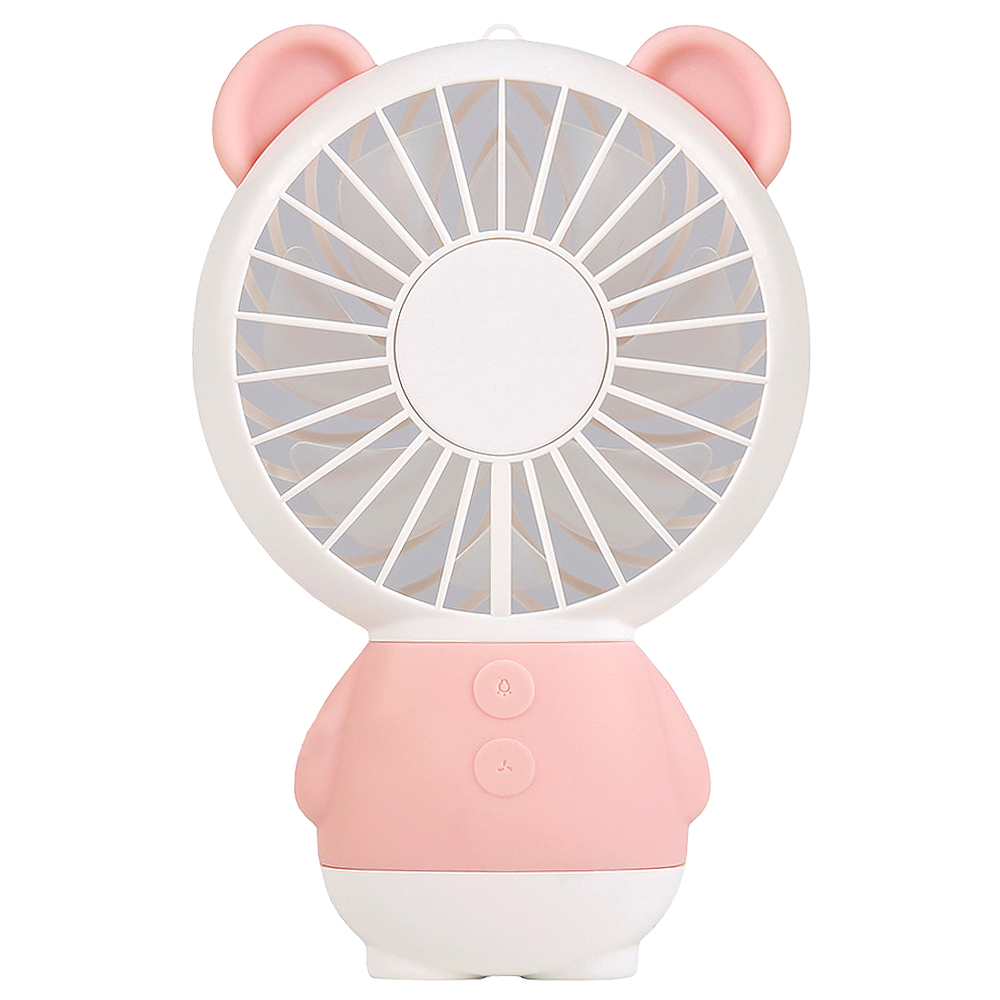 쵸미앤세븐 레인보우 LED 미니팬 베어 휴대용 선풍기