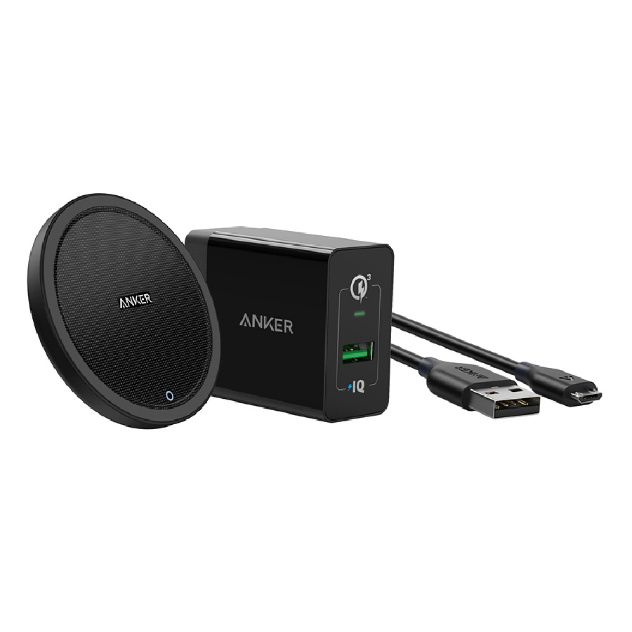 앤커 파워웨이브 고속 무선 충전패드, 블랙, 1세트