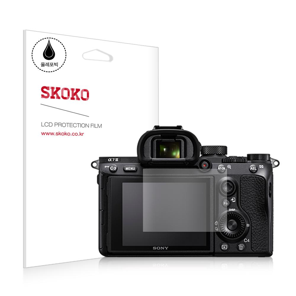 스코코 소니 A7M3 카메라 올레포빅 액정보호 필름 2p, 단일상품, 1세트