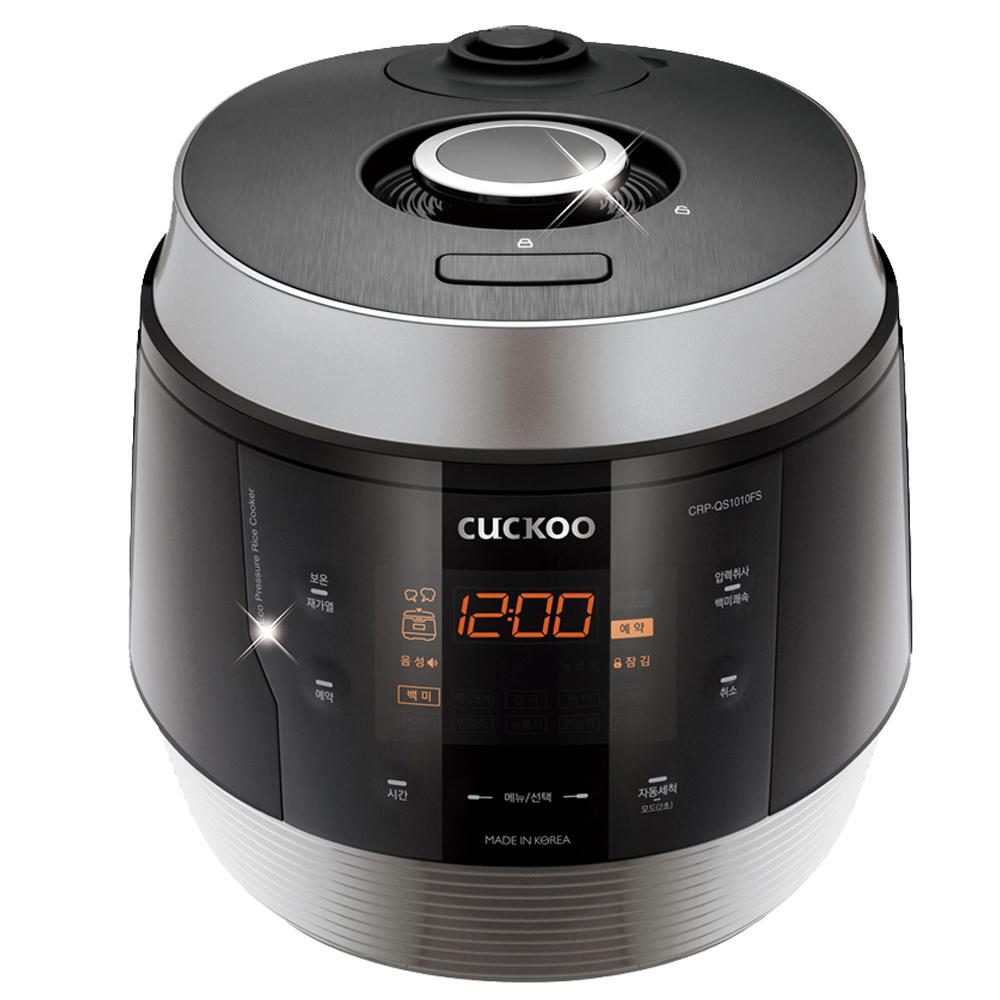 쿠쿠 열판 압력 밥솥 10인용, CRP-QS1010FS (블랙실버)