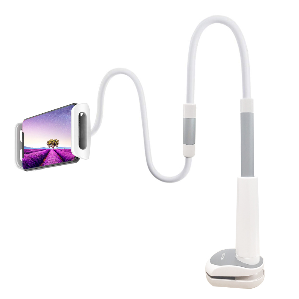 요이치 브라이트 스마트폰 거치대 YSH-200, WHITE + SILVER, 1개