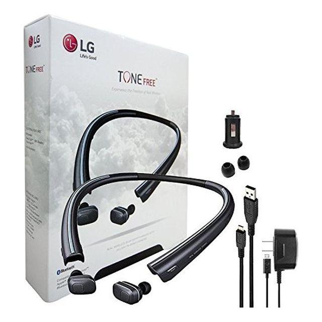 LG TONE FREE -F110 inHDin 무선 블루투스 이어폰 충전 용 넥 밴드 및 차량용 충전기 이어 젤 + LG 벽면 충전기 (갱신), 본상품선택