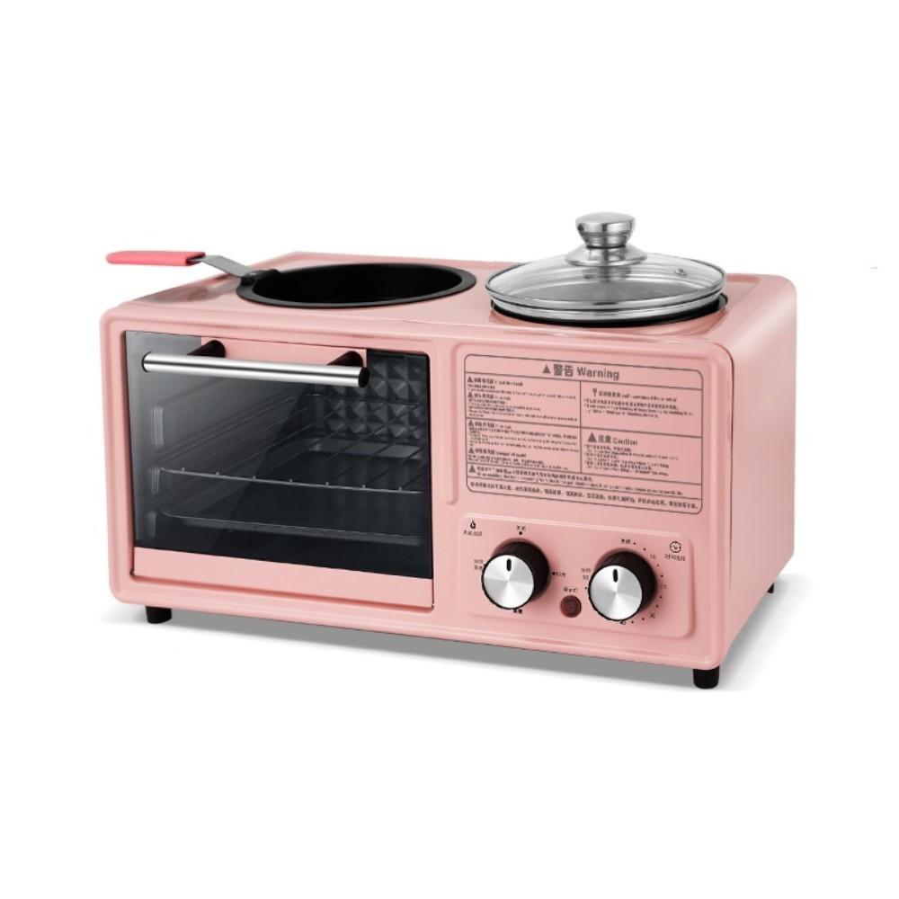 작은 토스터 샌드위치 메이커 아침 유물에 대한 데벨 게으른 아침 식사 기계 다기능 four-in-one, 핑크 독립형 모델