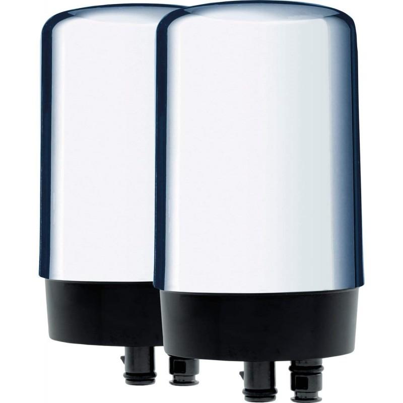 브리타 정수기 브리타 - 36312 탭 워터 필터 수도꼭지용 워터필터 납 감소 BPA 프리 – 크롬 2카운트 - 수도꼭지 장착 워터, 단일옵션
