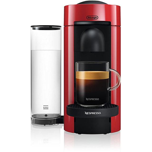 Nespresso by De'Longhi VertuoPlus Coffee and Espresso Machine 네스프레소 버츄오 커피 머신 Red, 단일상품