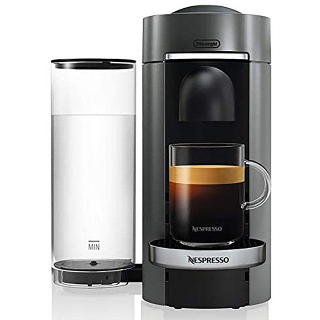 Nespresso by De'Longhi VertuoPlus Deluxe Coffee and Espresso Machine 네스프레소 버츄오 디럭스 커피 머신 Titan, 단일상품