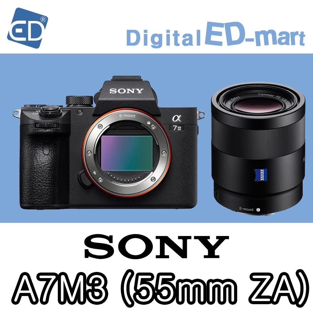 소니 A7Mlll 미러리스카메라, 소니정품A7M3 / FE 55mm F1.8 ZA 액정필름/ED