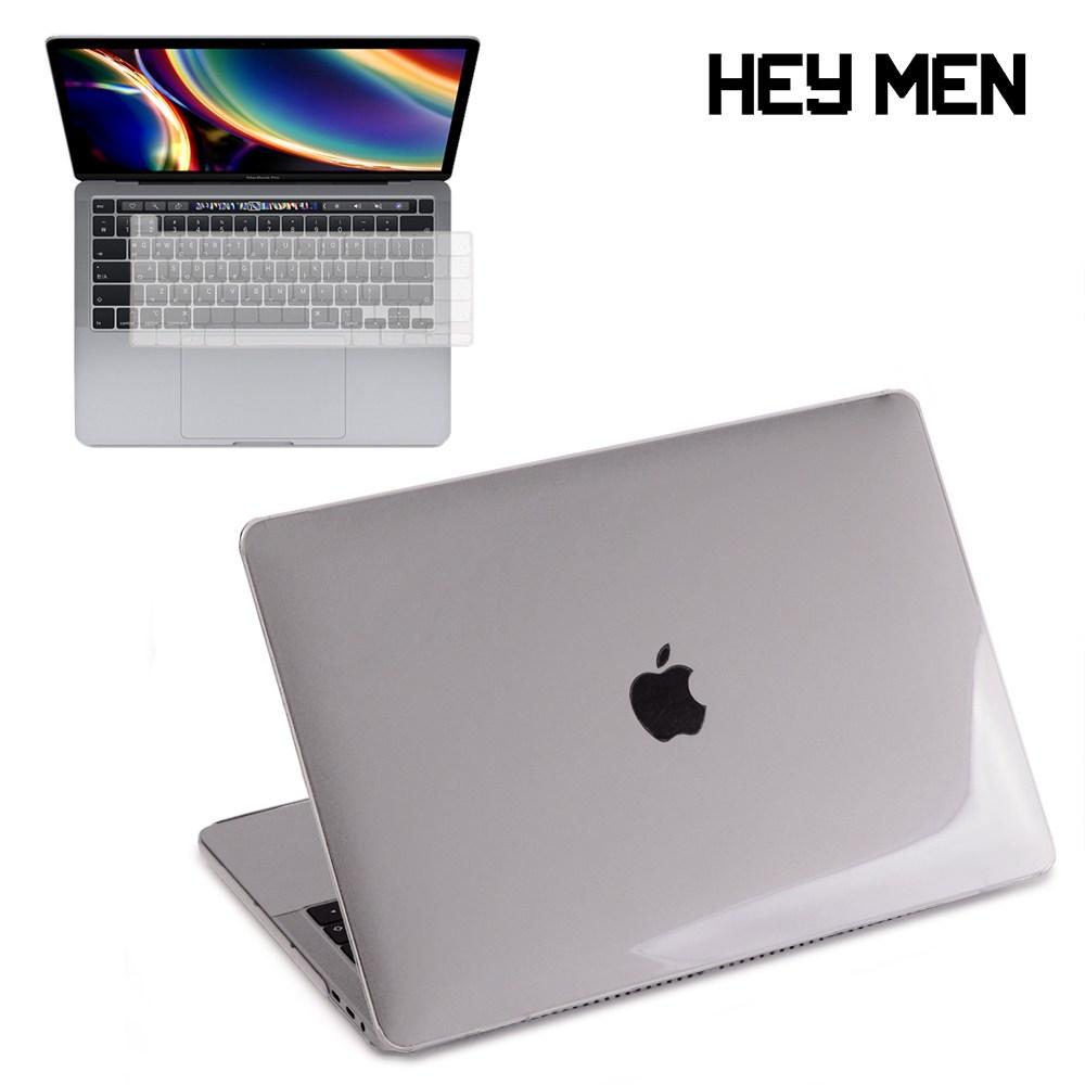 헤이맨 맥북프로 13인치 2020 A2251 A2289 투명 하드 케이스 + 키보드 스킨, 투명 케이스 + 투명 키스킨