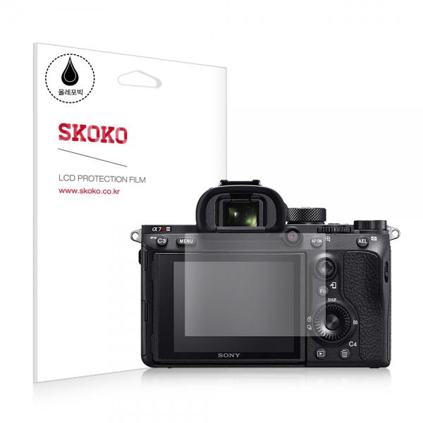 소니 A7R M3 카메라 올레포빅 액정보호필름 2매, 상세 설명 참조